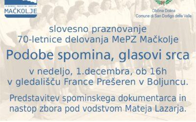 70 let Mešanega pevskega zbora Mačkolje